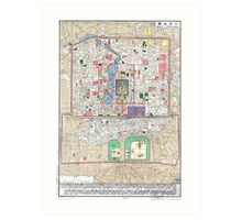 1914 Map of Peking (Beijing) Art Print