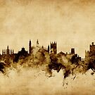 Cambridge England Skyline by Michael Tompsett