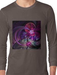 Fly - Abstract Fractal Artwork Long Sleeve T-Shirt