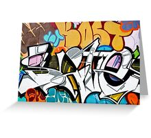 Abstract Graffiti on the textured wall Greeting Card