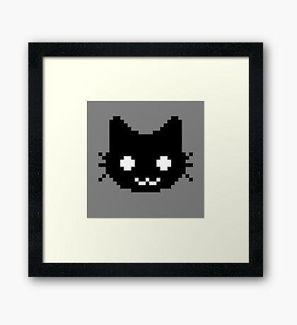 8-bit kitten Framed Print