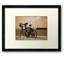 Cycle to the Sea Framed Print