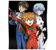 neon genesis evangelion rei ayanami asuka soryu shinji anime manga shirt Poster
