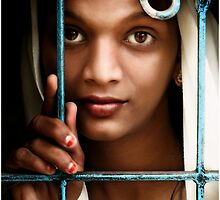 Indian Girl Through Window by chrisfranklin1