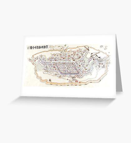 1900 Map of Tientsin (Tianjin) Greeting Card