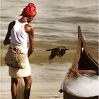 Fisherman and Bird in India by chrisfranklin1
