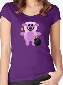 SHEEP 4 (Cute pet has a bomb and its alight!) Women's Fitted Scoop T-Shirt