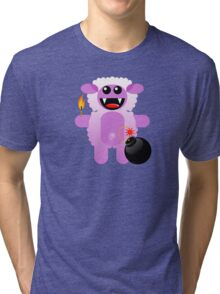 SHEEP 4 (Cute pet has a bomb and its alight!) Tri-blend T-Shirt