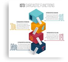 ISTJ Sarcastic Functions Canvas Print