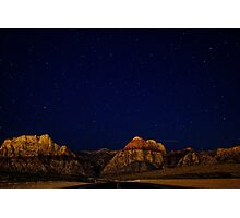 Night sky and mountains Photographic Print