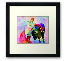 Dance of force and humility Framed Print