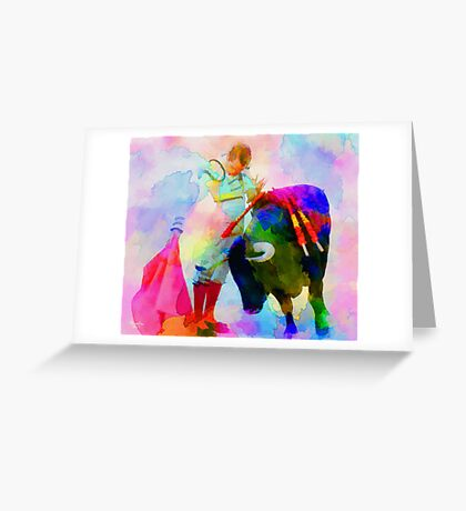 Dance of force and humility Greeting Card