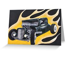 Hot Rod Flames Greeting Card