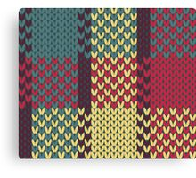 Faux Knit Plaid Canvas Print
