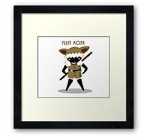Fluff Monk Framed Print