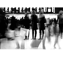 Rush hour at Victoria station Photographic Print