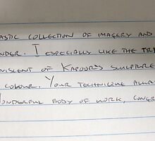 Comments from my Exhibition by Sukhwinder Flora