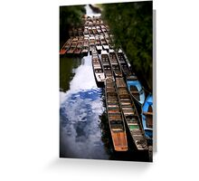 Punts at Magdalen Bridge, Oxford Greeting Card