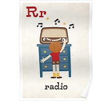 R is for Radio Poster
