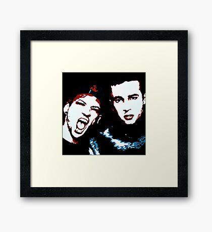 TJ + JD Painting - Black Background Framed Print
