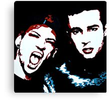 TJ + JD Painting - Black Background Canvas Print