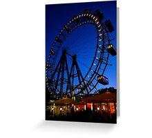 La ruota panoramica del Prater di Vienna Greeting Card