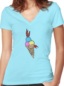 Gucci Mane Ice Cream Tattoo Women's Fitted V-Neck T-Shirt