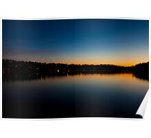Sunset on Narrabeen Lakes, Sydney Poster