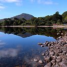 Reflection Lough Inagh, Connemara, Ireland by JoeTravers