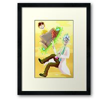 Mo-Morty, chill! *burb* Framed Print