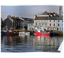 Galway Harbour, Ireland. Poster
