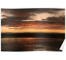 Sunrise over Galway Bay, Ireland. Poster