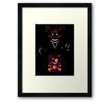 Five Nights at Freddy's - Fnaf 4 - Nightmare Foxy Plush Framed Print