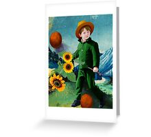 Vincent, the Sunflowers Greeting Card