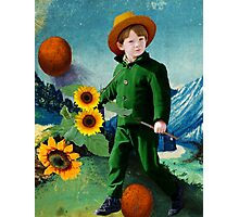 Vincent, the Sunflowers Photographic Print