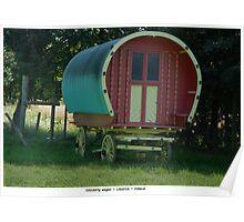 Travelling Wagon, Ireland. Poster