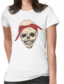 Tupac Skull Womens Fitted T-Shirt