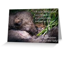 Baby Card - Timber Wolf Greeting Card