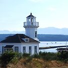 Port Townsend Lighthouse by Marjorie Wallace