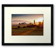 Skagit Valley, early morning dew  Framed Print