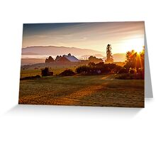 Skagit Valley, early morning dew  Greeting Card
