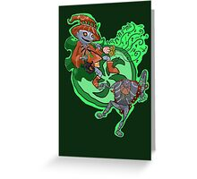 Skull Kid the Puppetmaster Greeting Card