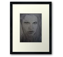 Angelina portrait drawing Framed Print