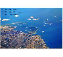 Flying Over Toronto Photographic Print