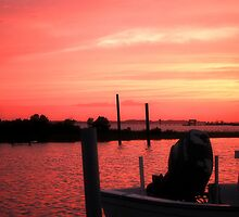 Blazing Sunset the Night Before Irene by Sandy Woolard