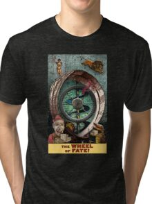 The Wheel of Fate: Circus Tarot by Duck Soup Productions Tri-blend T-Shirt