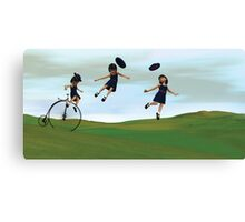 Girl on a Penny Farthing Canvas Print