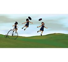 Girl on a Penny Farthing Photographic Print