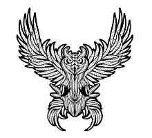 Vintage owl tattoo style. Photographic Print