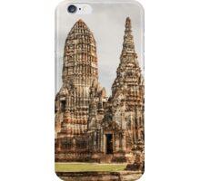 Ayutthaya temple iPhone Case/Skin